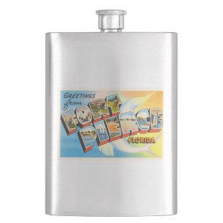 Fort Pierce Florida FL Old Vintage Travel Souvenir Flasks