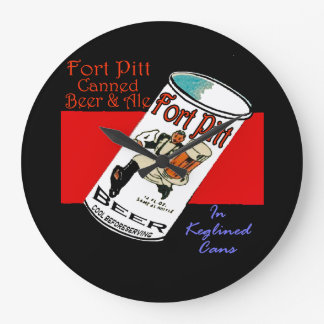 Fort Pitt Beer Large Clock