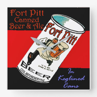 Fort Pitt Beer Square Wall Clock