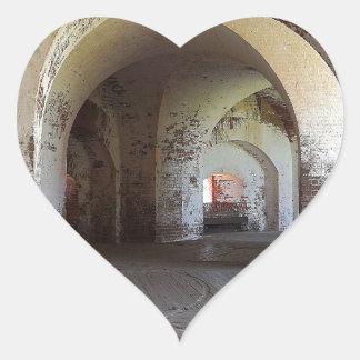 Fort Pulaski Hall Heart Sticker