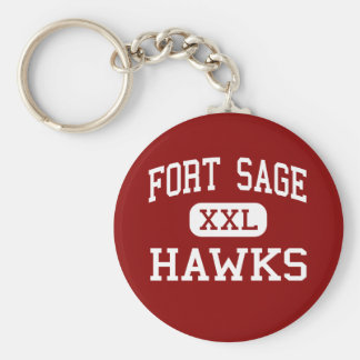 Fort Sage - Hawks - Middle - Herlong California Keychain
