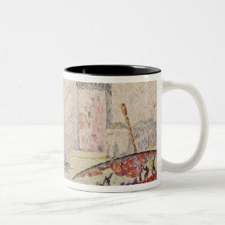 Fort Saint-Jean, Marseilles, 1907 Two-Tone Coffee Mug