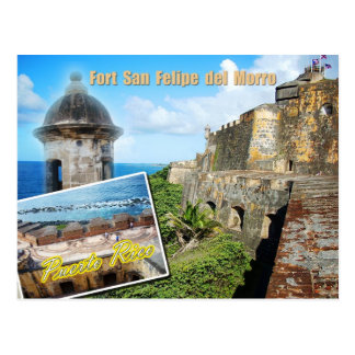 Fort San Felipe del Morro, Puerto Rico Postcard