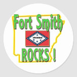 Fort Smith Rocks ! (green) Round Stickers