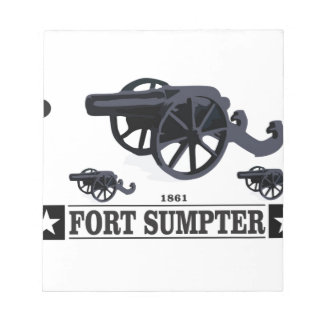 fort sumpter battle notepads