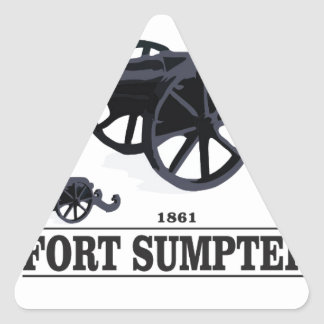 fort sumpter battle triangle sticker