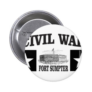 Fort sumpter double star 2 inch round button