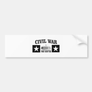 Fort sumpter double star bumper sticker