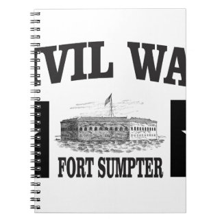 Fort sumpter double star notebook