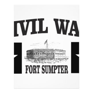 Fort sumpter double star personalized letterhead