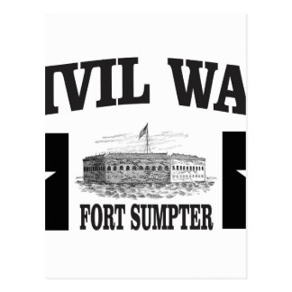 Fort sumpter double star postcard