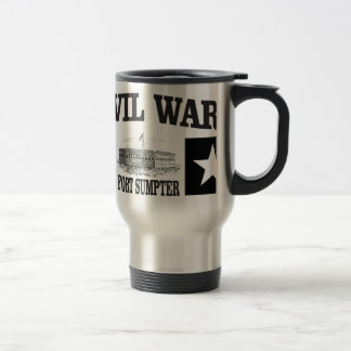 Fort sumpter double star travel mug