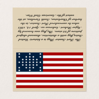 """Fort Sumter Flag Business Card - """"Tent Style Card"""""""