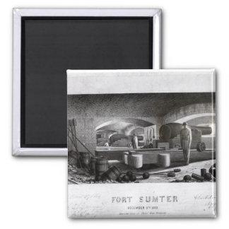 Fort Sumter, Interior View of Three Gun Battery Magnet