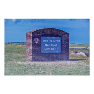 Fort Sumter Monument Poster