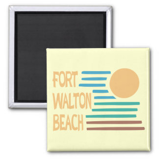 Fort Walton Beach geometric design Square Magnet