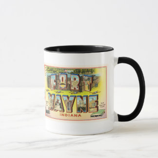 Fort Wayne #2 Indiana IN Vintage Travel Souvenir Mug