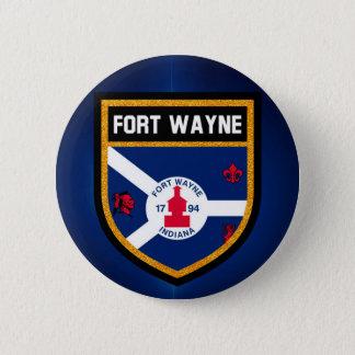 Fort Wayne Flag 2 Inch Round Button