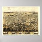Fort Wayne, IN Panoramic Map - 1868 Poster