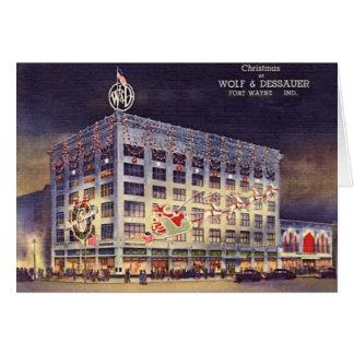 Fort Wayne Indiana Department Store at Christmas Card