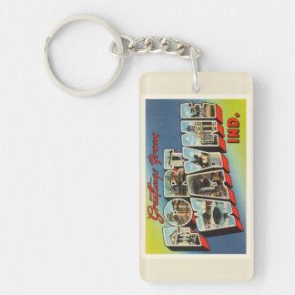 Fort Wayne Indiana IN Old Vintage Travel Souvenir Keychain