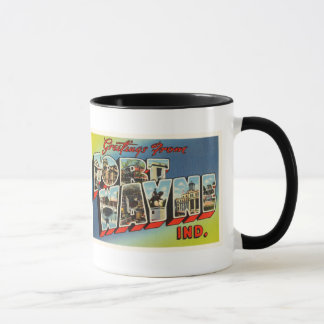 Fort Wayne Indiana IN Old Vintage Travel Souvenir Mug