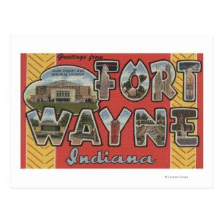 Fort Wayne, Indiana - Large Letter Scenes Postcard
