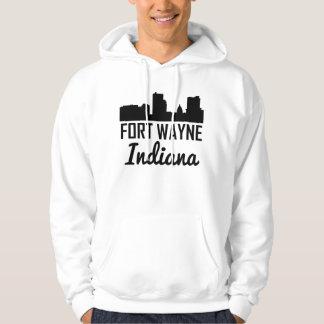 Fort Wayne Indiana Skyline Hoodie