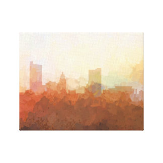 FORT WAYNE, INDIANA SKYLINE - In the Clouds Canvas