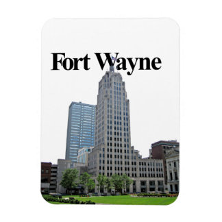Fort Wayne Indiana Skyline w/Fort Wayne in the Sky Magnet
