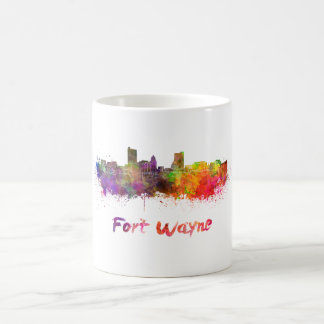 Fort Wayne skyline in watercolor Coffee Mug