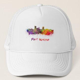 Fort Wayne skyline in watercolor Trucker Hat