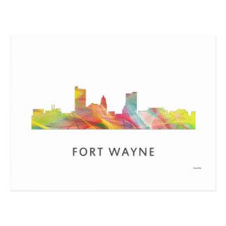 FORT WAYNE SKYLINE WB1 - POSTCARD