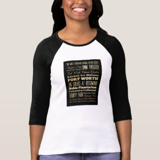 Fort Worth City of Texas State Typography Art T-Shirt
