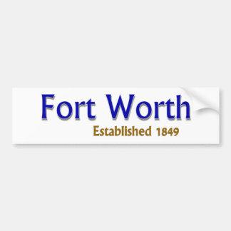 Fort Worth Established Vehicle Bumper Sticker