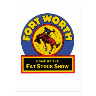 Fort Worth Fat Stock Show Postcard