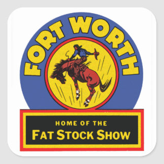 Fort Worth Fat Stock Show Square Sticker