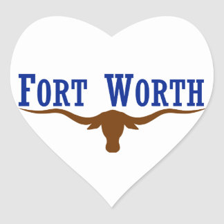 Fort Worth Flag Heart Sticker