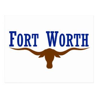 Fort Worth Flag Postcard