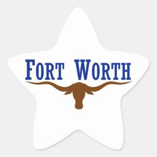 Fort Worth Flag Star Sticker