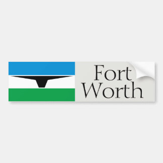Fort Worth simplified historic flag bumper sticker