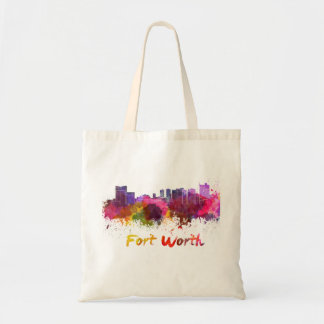 Fort Worth skyline in watercolor Tote Bag