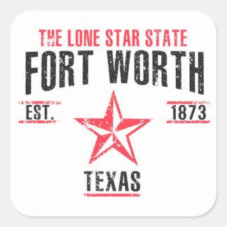 Fort Worth Square Sticker