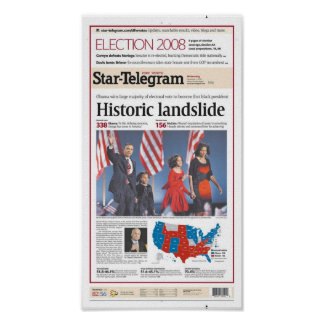 Fort Worth Star-Telegram Election Day Front Page Posters