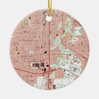 Fort Worth Texas Map (1995) Ceramic Ornament