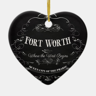 Fort Worth, Texas - Queen City of the Prairie Ceramic Ornament