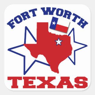 Fort Worth, Texas Square Sticker