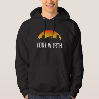 Fort Worth Texas Sunset Skyline Hoodie