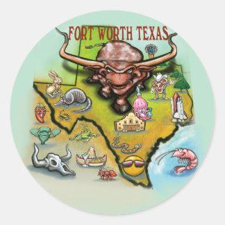 Fort Worth TX Round Sticker