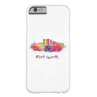 Fort Worth V2 skyline in watercolor Barely There iPhone 6 Case